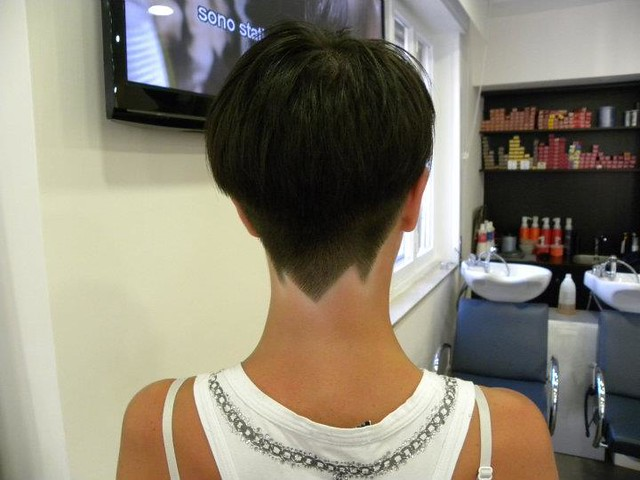 Short Haircuts for Women with Buzzed Napes