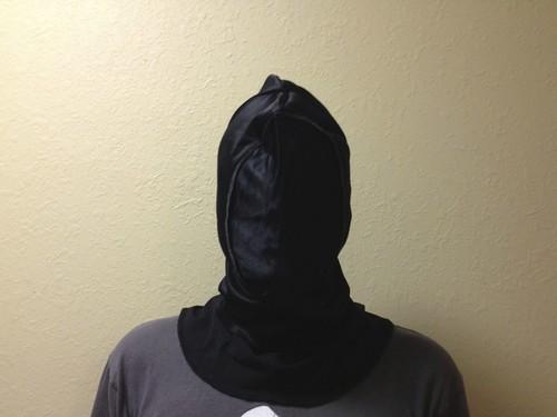 Mask over hood