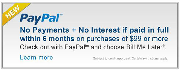 Finance with PayPal