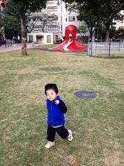 朝散歩 - タコ公園で走る (2012/10/31)