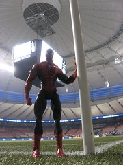 Spider-Man on Bell Pitch at BC Place on the north side (closer up)