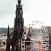 Sir Walter Scott Memorial and Ferris Wheel - Edinburgh, Scotland