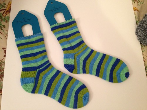 First pair of finished socks this year by knitkimberknit