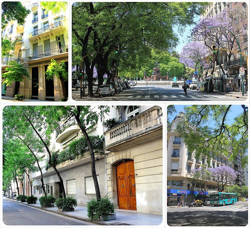 Buenos Aires tree-lined streets