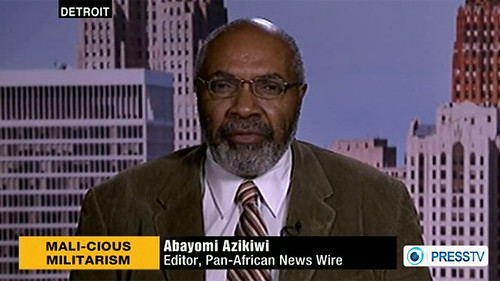 Abayomi Azikiwe, editor of the Pan-African News Wire, featured on Press TV discussing the French imperialist intervention in the West African state of Mali. Azikiwe appeared on the News Analysis segment on January 14, 2013. by Pan-African News Wire File Photos