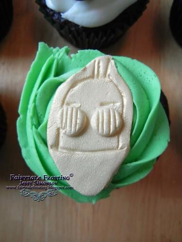 Star Wars Cupcake C3po