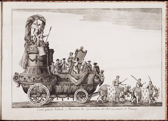 Carro quarto pallade e Mercurio che sopraisiedono all'Arti mecaniche di Venezia