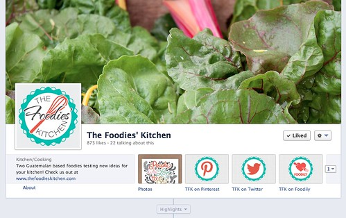 The Foodies' Kitchen New Look Facebook