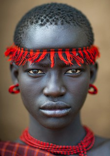 African Tribal Women Miss domoget, bodi tribe woman
