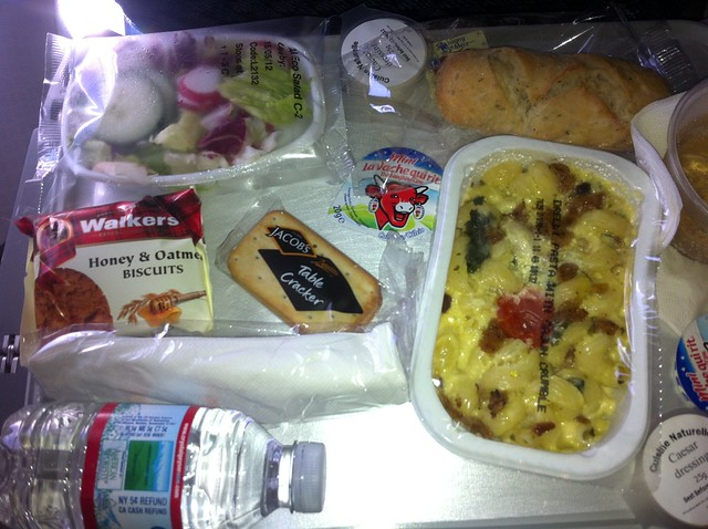 AA - LHR - LAX - Dinner and Snack