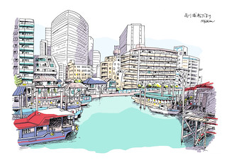 品川浦船だまり Shinagawa Waterfront and Boats