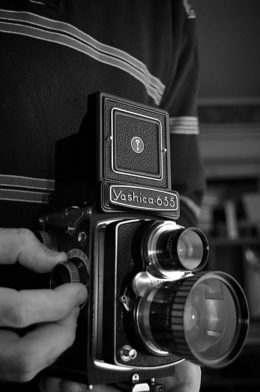 With the Yashica Six Three Five