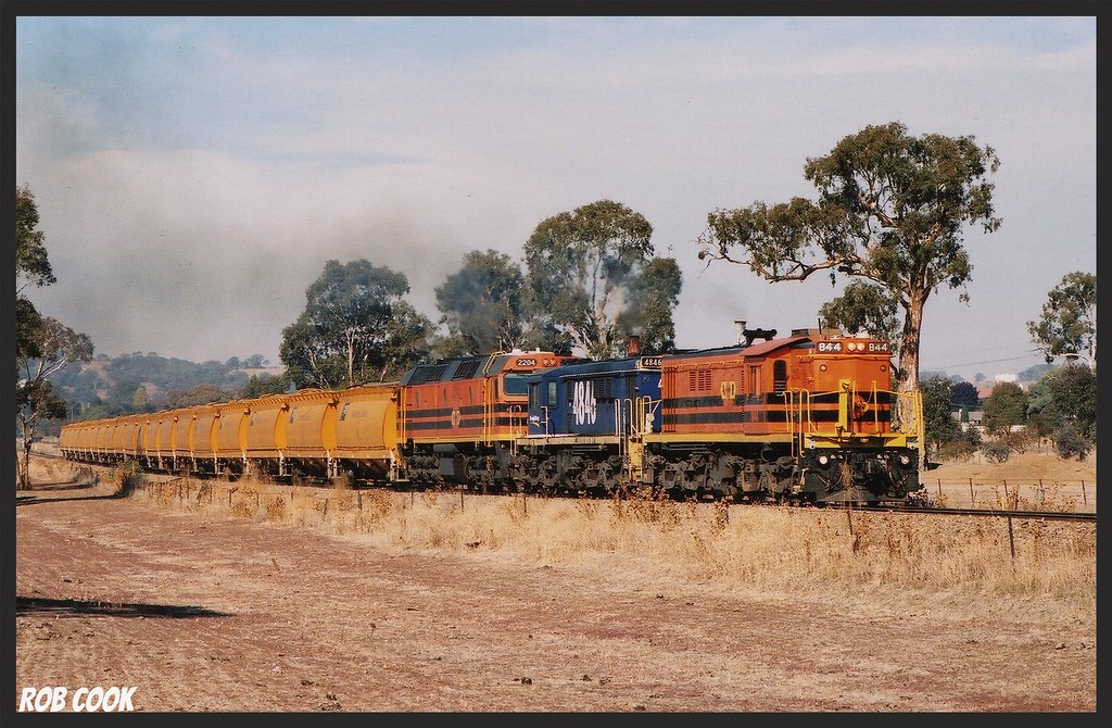 Hazy Cootamundra day. (scan) by Robert Cook