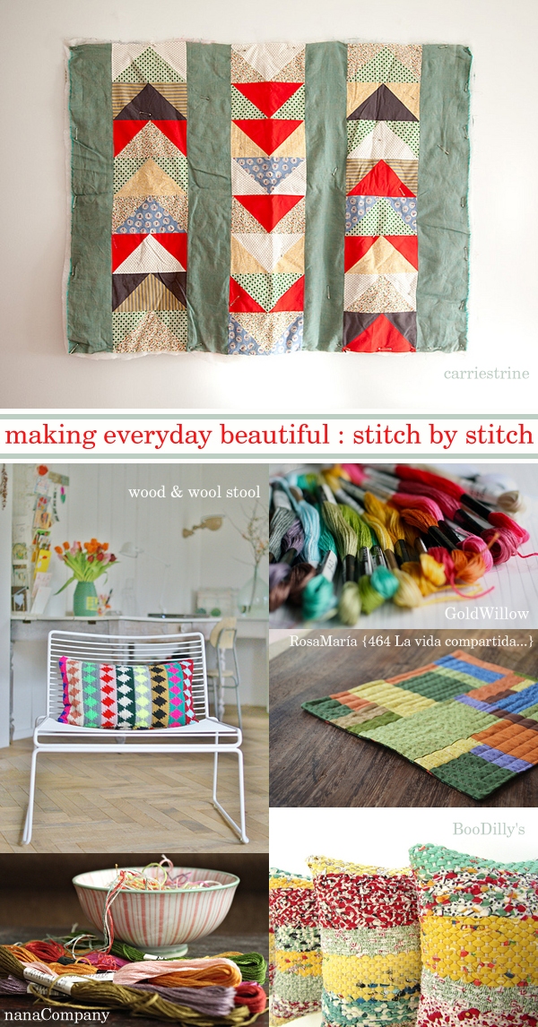 making everyday beautiful : stitch by stitch | Emma Lamb