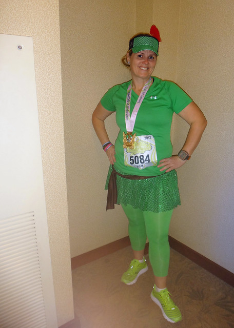 Post-Tinker Bell Half Marathon 2013, @AngryJulie as Peter Pan
