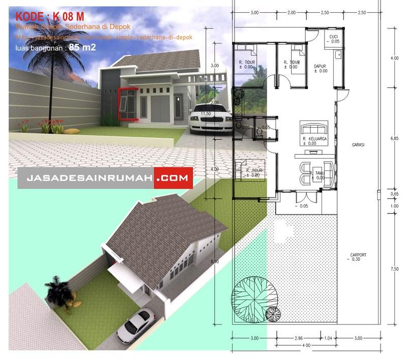 rumah simple sederhana di depok jasa desain rumah
