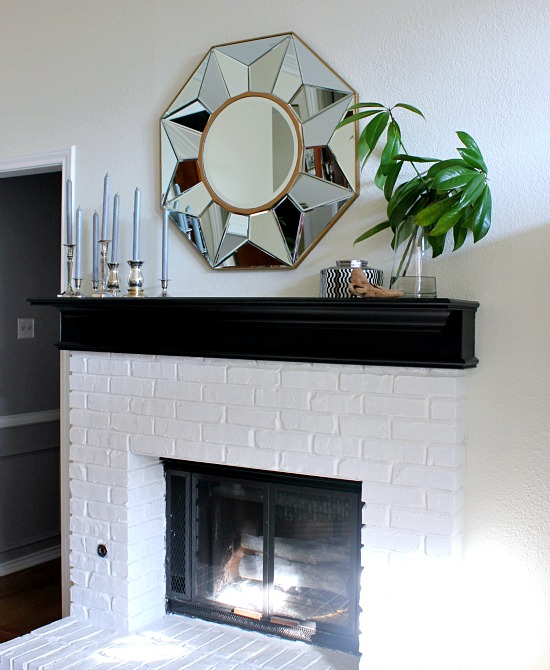 Winter Mantel with Faux Birch Logs