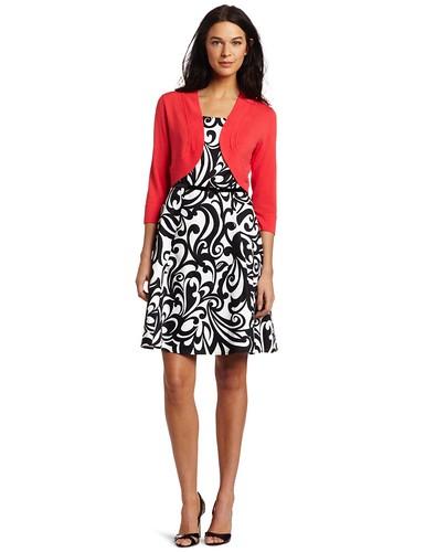 AGB Women's Two Piece Sleeveless Dress