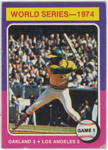 1975 Topps World Series Highlights Reggie Jackson