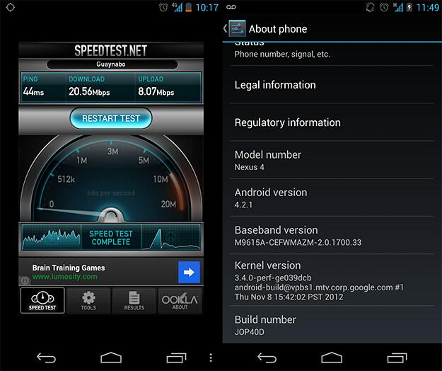 Nexus 4 LTE en Claro Puerto Rico