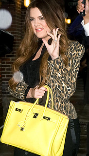 Khloe Kardashian Odom Neon Handbag Celebrity Style Women's Fashion