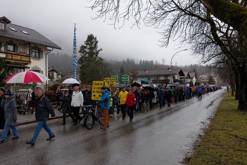 Demonstration für den Kramertunnel in Garmisch