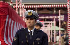 池上本門寺で節分2013: Policeman