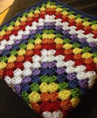 Having fun!  #crochet #grannysquare #babyblanket #rainbow #blanket
