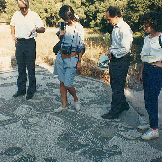 Field trip to Ostia Antica, summer 1986.  photo / Anna Rita Flati