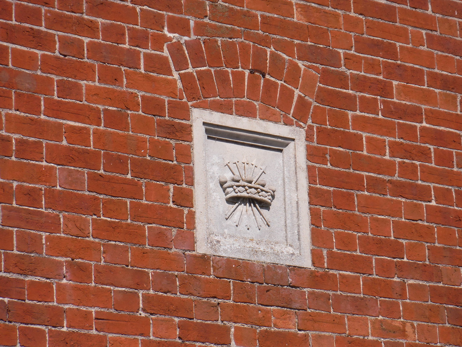 Rothschild Coat of Arms on House Wall, Upper Winchenden SWC 192 Haddenham to Aylesbury (via Waddesdon)