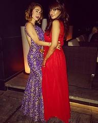 Both wearing Maral Yazarloo creations!!