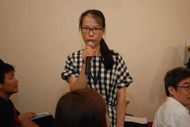 中國《商業生態》記者劉春蘭。攝影:彭瑞祥。