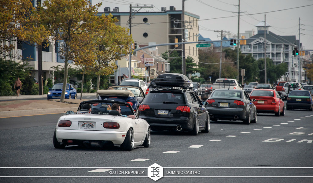 white miata mazda on strip at h2oI 2012 3pc wheels static airride low slammed coilovers stance stanced hellaflush poke tuck negative postive camber fitment fitted tire stretch laid out hard parked seen on klutch republik