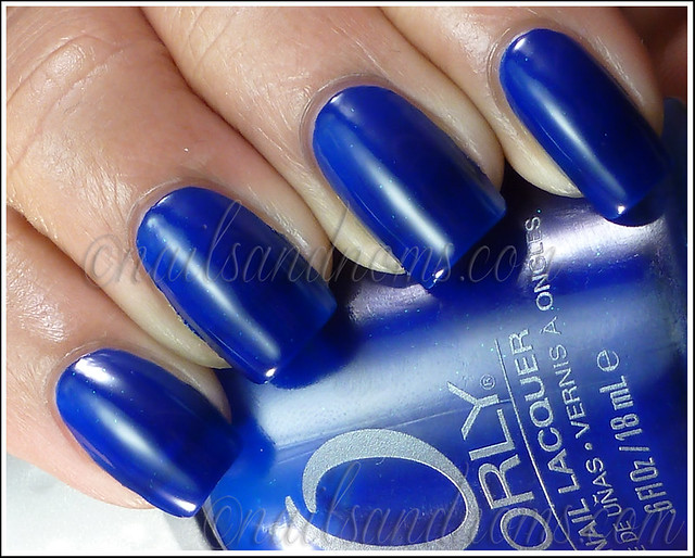 31DC2012 Day 5 Blue Nails - ORLY Royal Navy