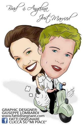 Brad Pitt & Angelina Jolie SPOSI by Giuseppe Lombardi