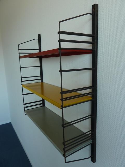 Vintage Metal Wall Rack Modular Wall Book Shelf From The