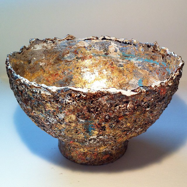 Paper mache bowl flickr photo sharing for How to make a newspaper bowl
