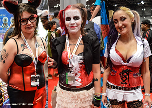 Harley Quinn costumes at NY Comic Con
