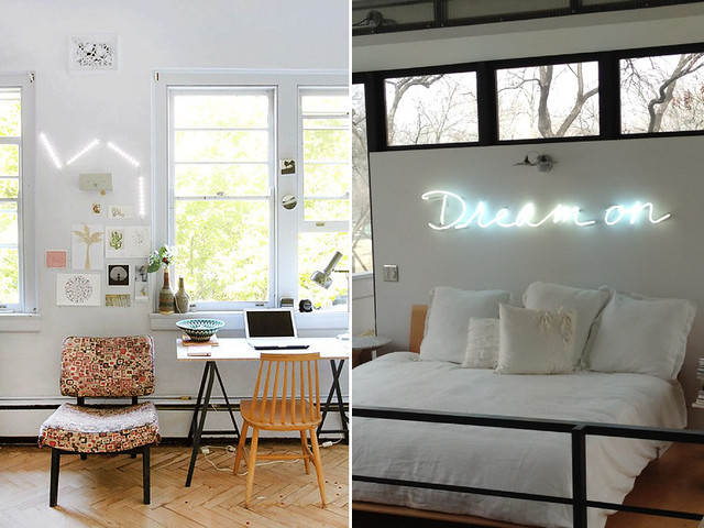 diy home neon sign art a pair a spare. Black Bedroom Furniture Sets. Home Design Ideas