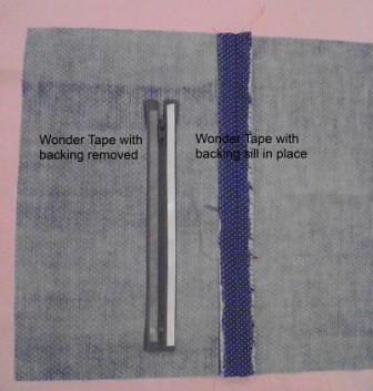 Wonder tape applied