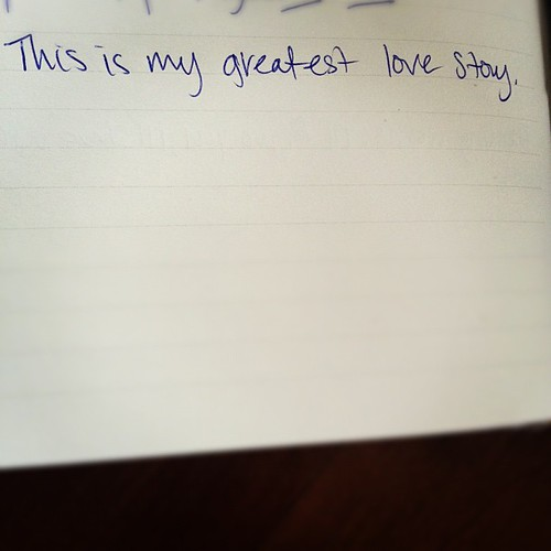 Writing and being surprised by my own words. My love story is vertical. #1000gifts