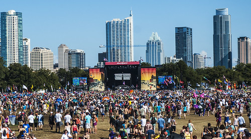 hometown skyline @ Austin City Limits 2012, Day 3 (Austin, Texas, Oct. 14, 2012)