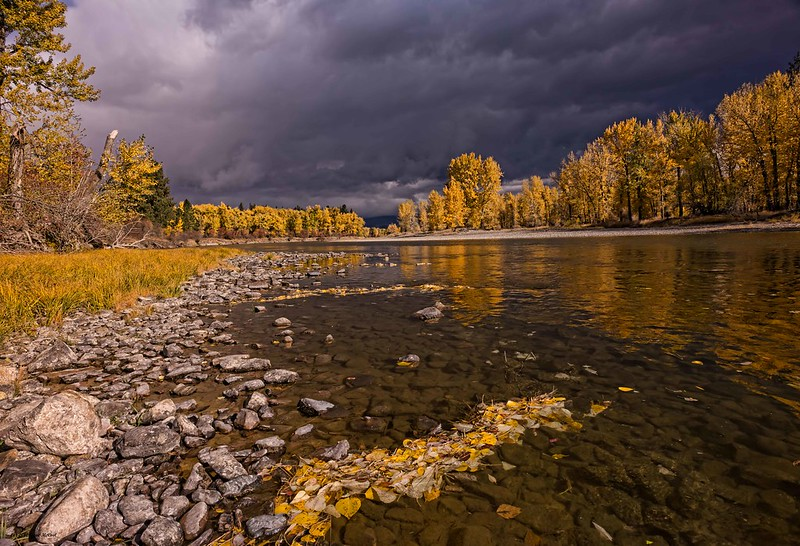 Storm Interlude, Bitterroot River at Maclay Flats