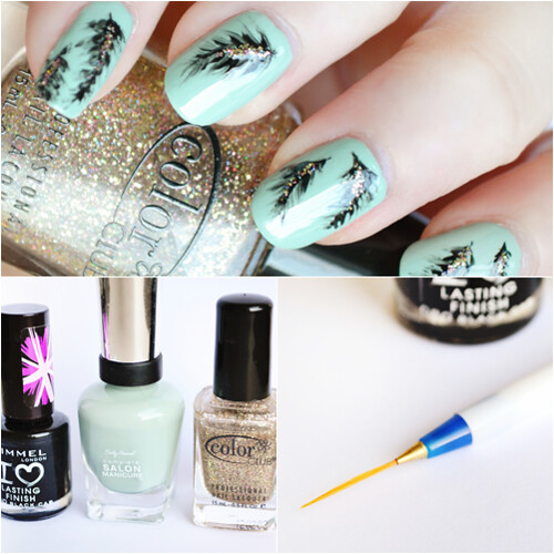 nail pen Feather nail art