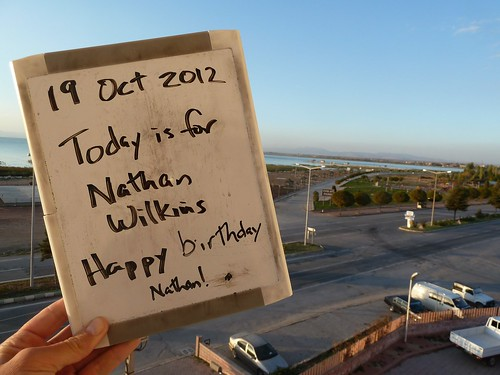 Today is for Nathan Wilkins - Happy birthday by mattkrause1969