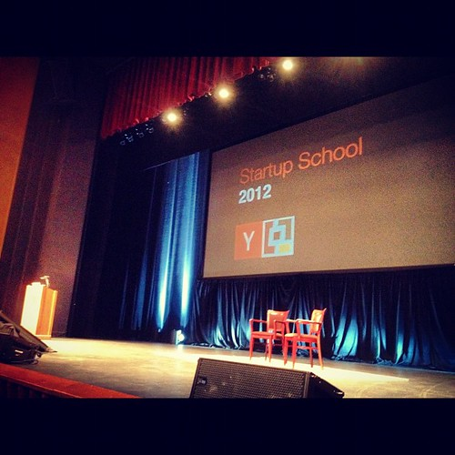 Have a front row seat for #startupschool ready for Zuck.