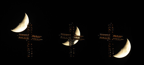 The moon and the millennium cross