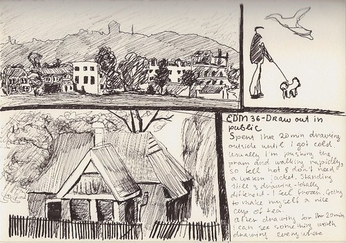 Journal Page - landscape sketches