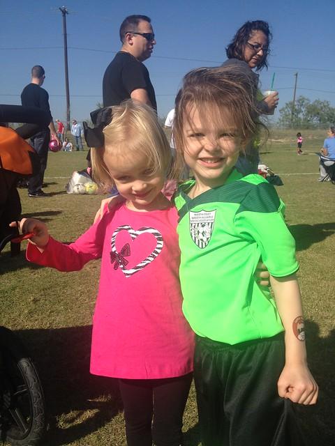 aubrey's soccer game