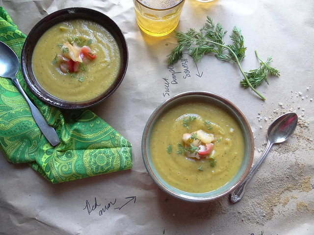 roasted carrot + sweet dumpling squash bisque {gf}